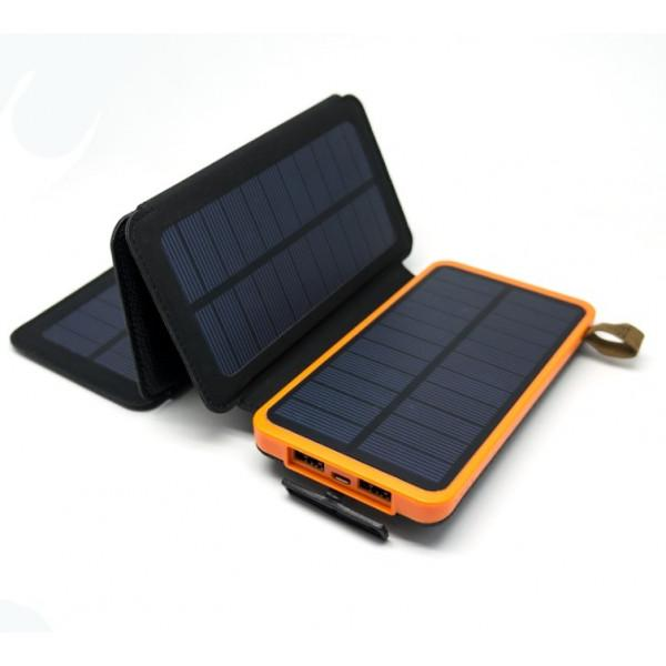 Портативное зарядное устройство - солнечная батарея Auzer APS8000 - 8000 мАч с 4-мя панелями