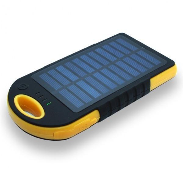 Портативное зарядное устройство - солнечная батарея Auzer APS10000 - 10000 мАч - Black