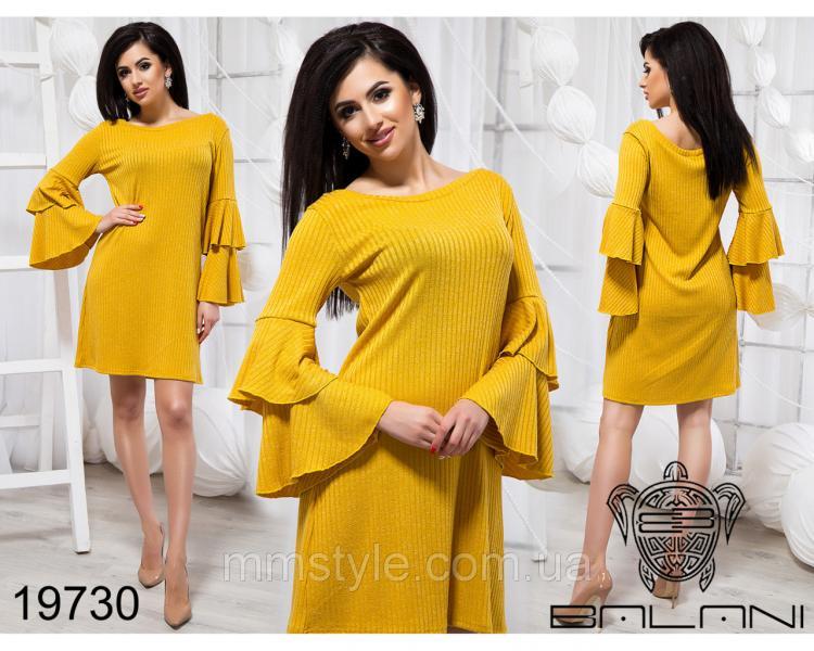 Стильное платье с воланами - 19730