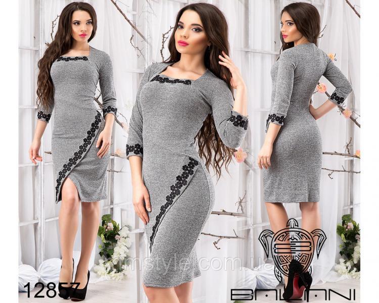 Платье  с  кружевом  -  12857