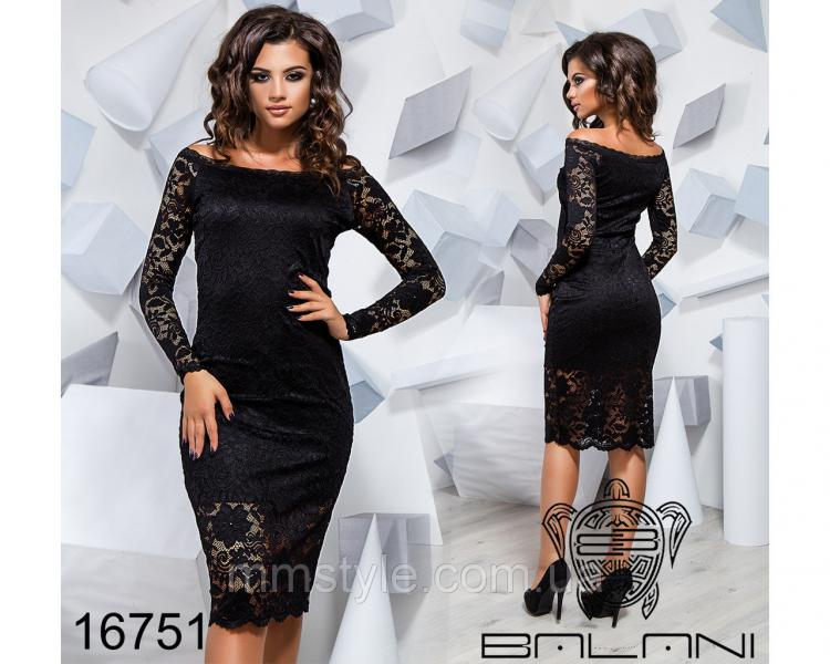 Облегающее гипюровое платье - 16751