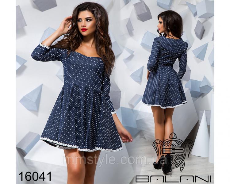 Принтованное платье - 16041