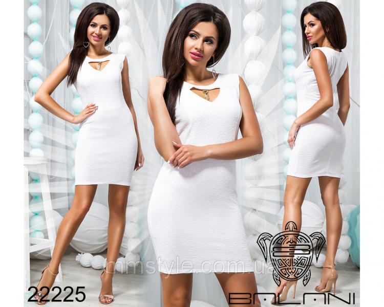 Платье с вырезом на груди - 22225