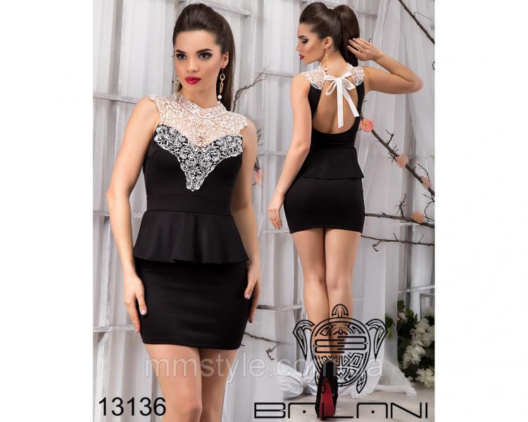 Платье  с  кружевом  -  13136