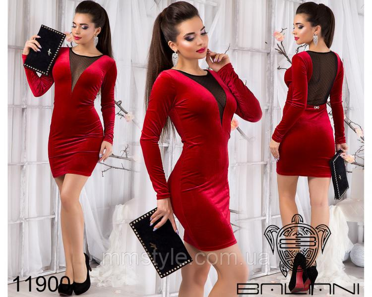 Бархатное  платье  -  11900