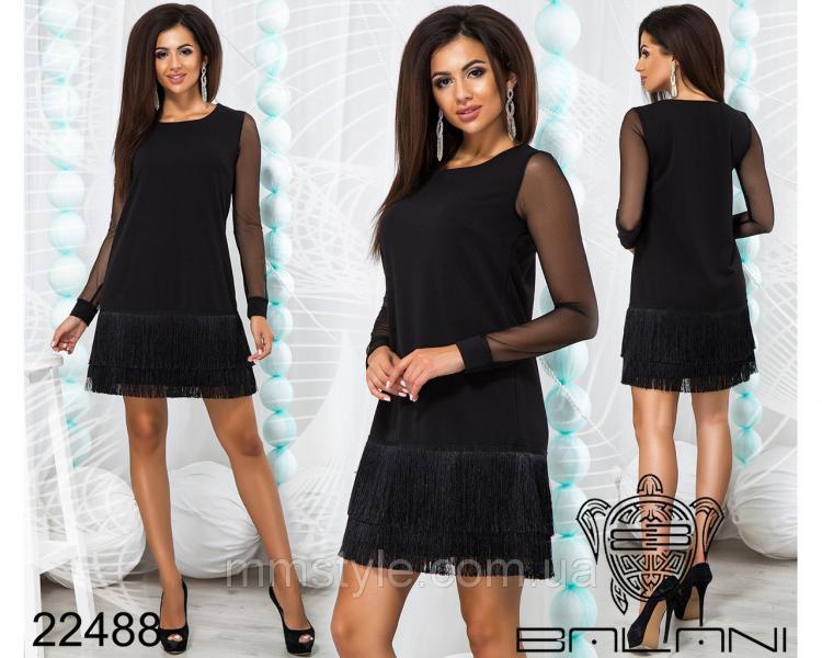 Платье с бахромой - 22488