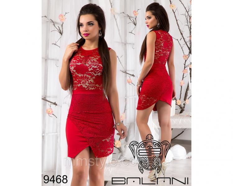 Гипюровое  мини  платье  -  9468