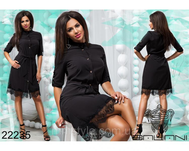 Платье с кружевом - 22235