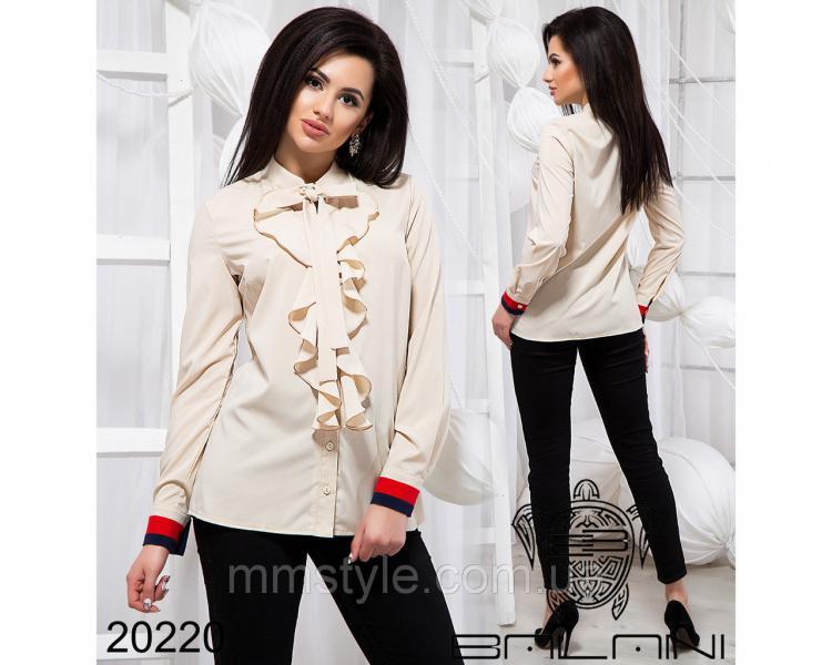 Элегантная рубашка с воланами - 20220