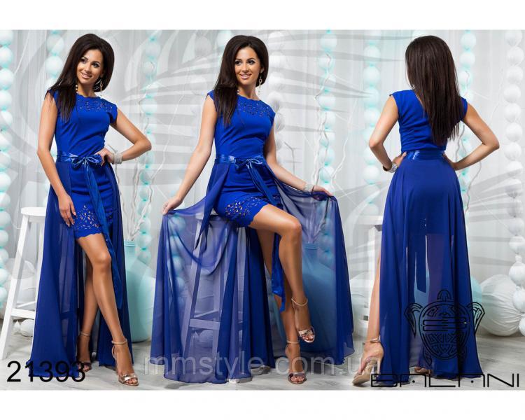 Стильное короткое платье со съемной юбкой - 21393