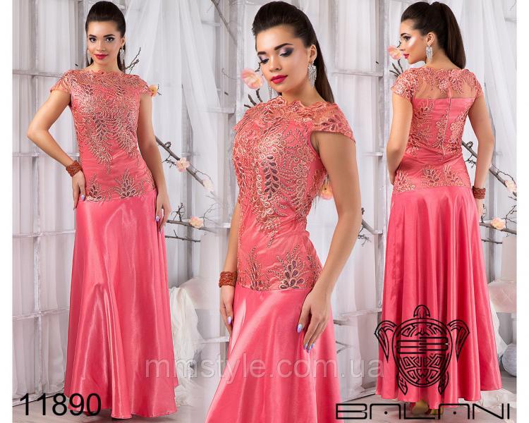 Вечернее  платье  в  пол  -  11890
