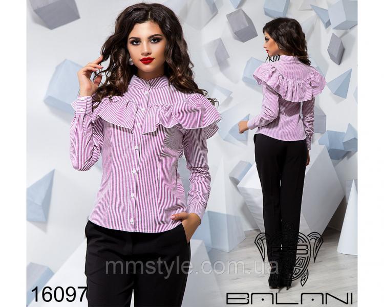 Рубашка с воланом - 16097