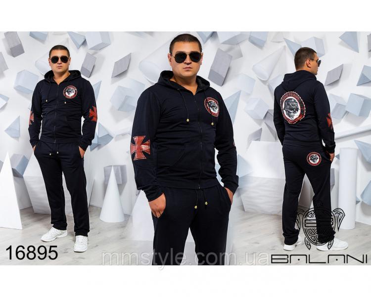 Мужской спортивный костюм - 16895, Замеры изделия указаныниже: