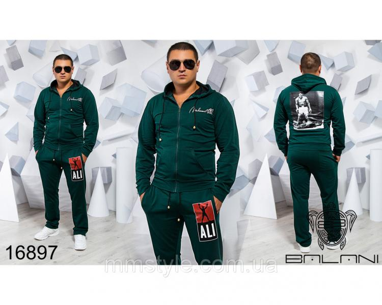 Мужской спортивный костюм - 16897, Замеры изделия указаныниже: