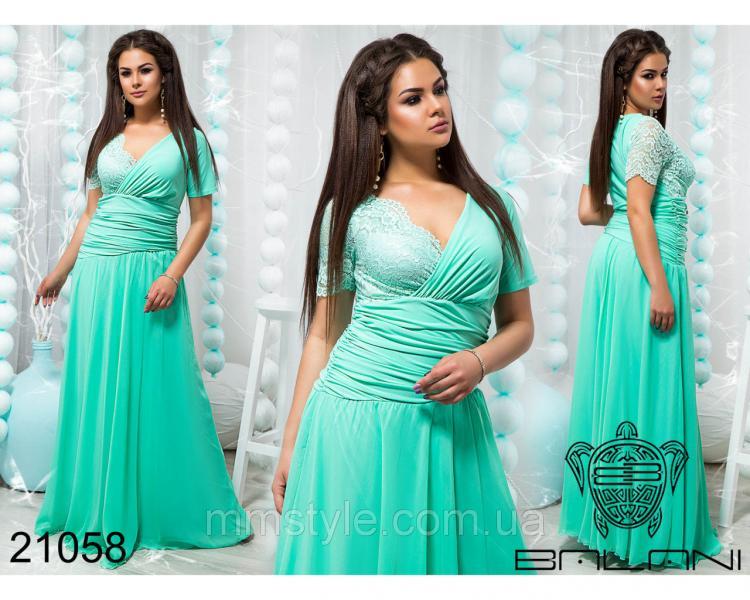 Стильное вечернее платье в пол - 21058