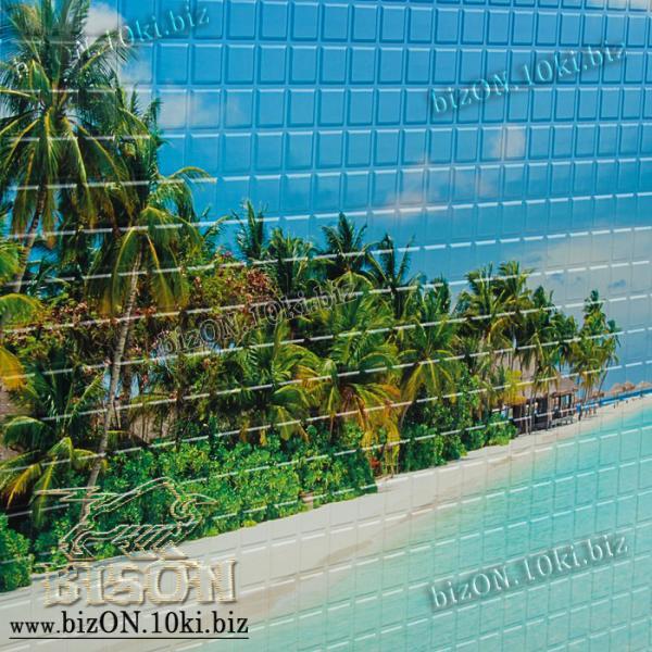 Фото Листовые панели ПВХ Панно «ПЛЯЖ» (3 листа в комплекте)   Листовые панели ПВХ