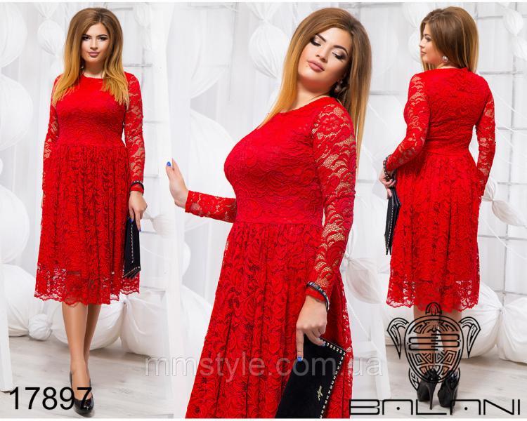 Элегантное гипюровое платье - 17897