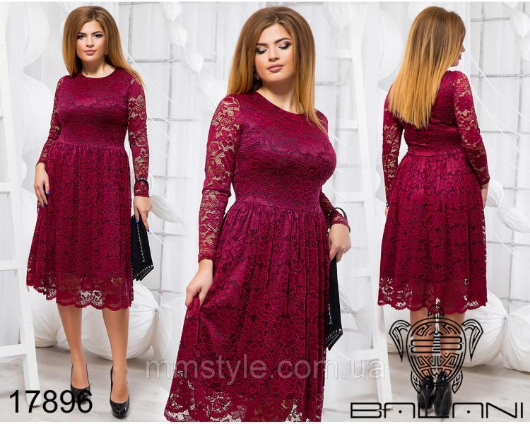 Элегантное гипюровое платье - 17896