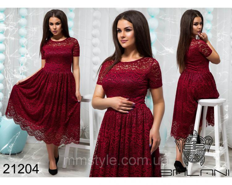 Пышное гипюровое платье - 21204