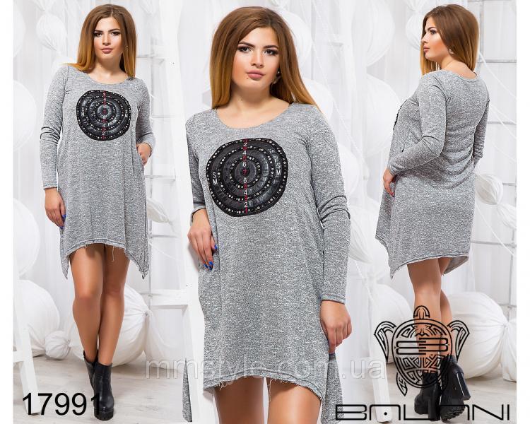 Стильное плтье туника - 17991