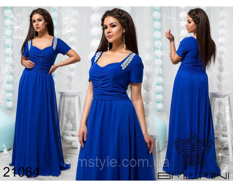 Шикарное платье в пол - 21064