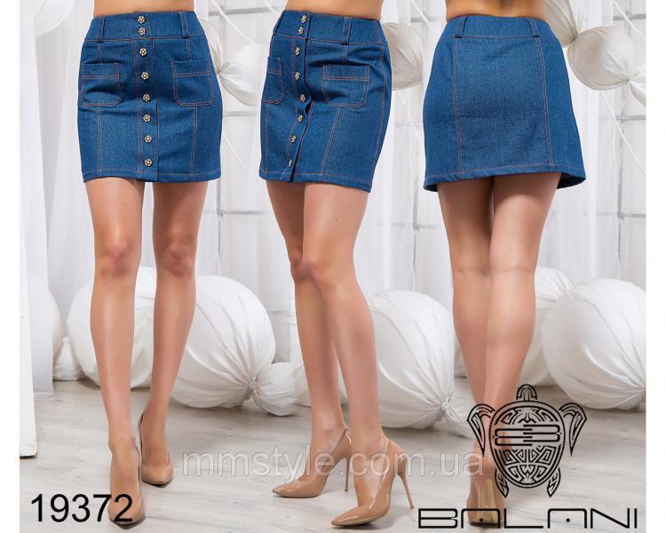 Стильная джинсовая юбка - 19372