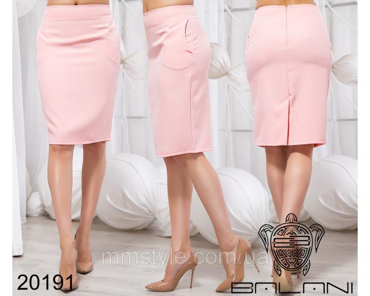 Стильная облегающая юбка - 20191