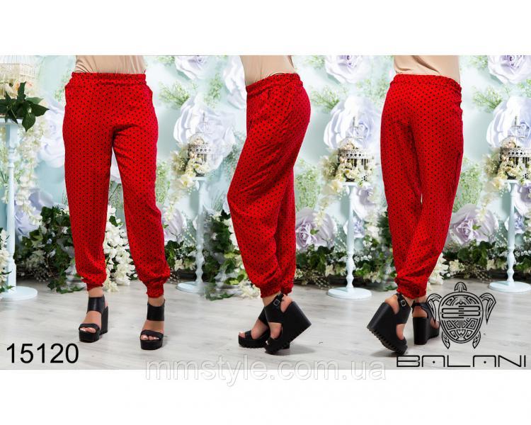 Штапельные  брюки  -  15120