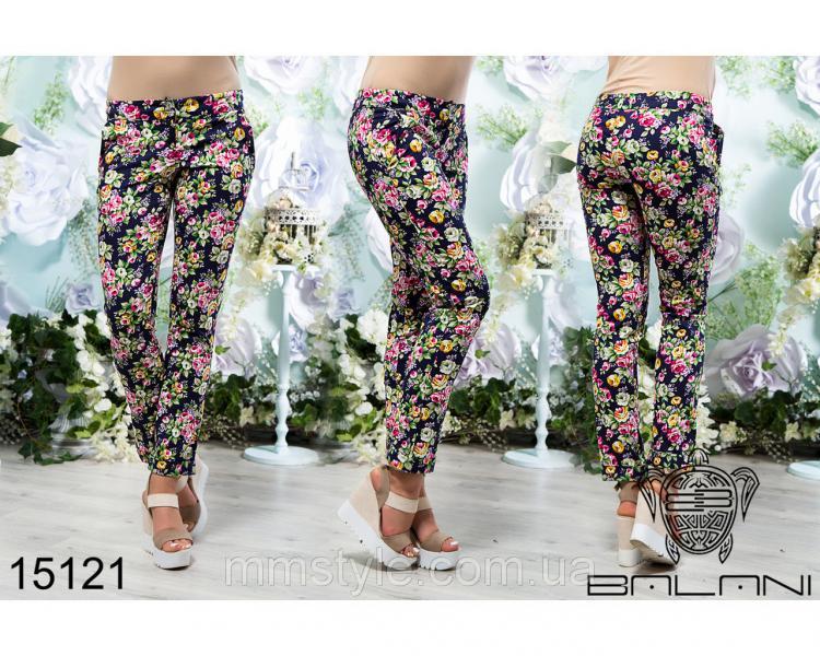 Принтованные  брюки  -  15121