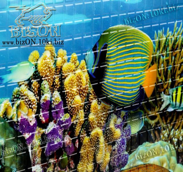 Фото Листовые панели ПВХ Панно «ПОДВОДНЫЙ МИР» (3 листа в комплекте)   Листовые панели ПВХ
