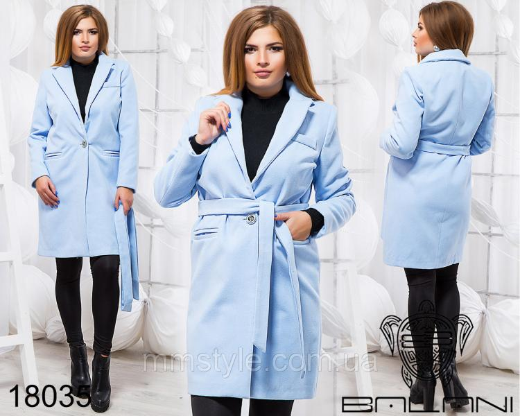 Элегантное пальто на поясе - 18035