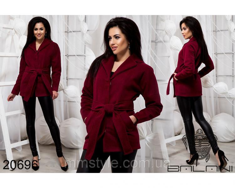 Стильное короткое пальто - 20696