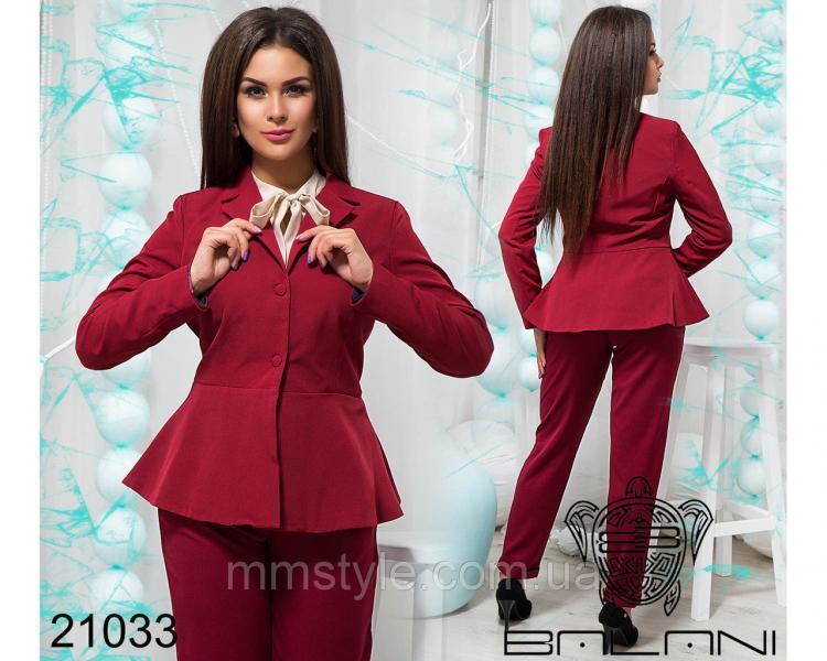 Стильный пиджак с баской - 21033