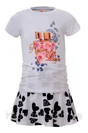 Трикотажный комплект для девочки Glo-Story: GLT-4087 Бел+Черн