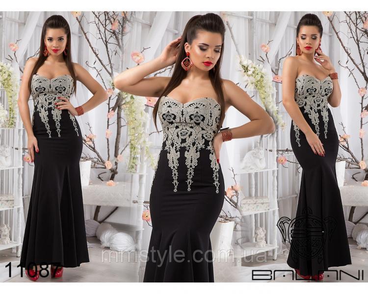 Вечернее  элегантное  платье  -  11087