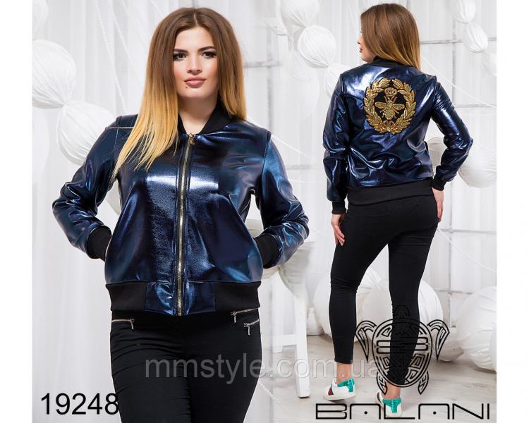 Стильная куртка из эко кожи - 19248