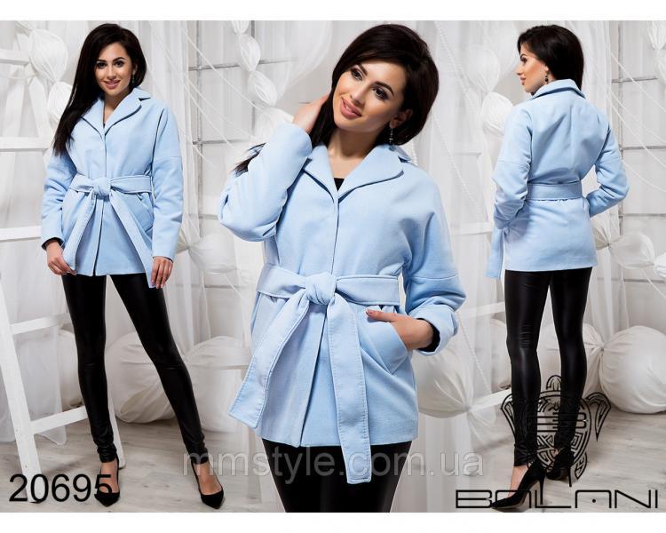 Стильное короткое пальто - 20695
