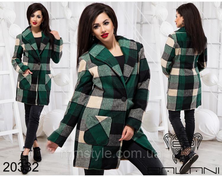 Стильное пальто на пуговице - 20332