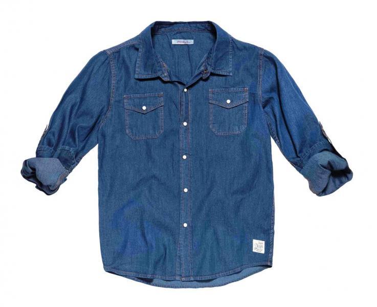 Рубашка джинс для мальчика Бренд Fox Израиль 8 лет 116-122 см