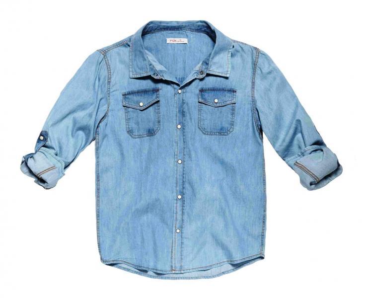 Рубашка джинс для мальчика Бренд Fox Израиль 14 лет 134-140 см