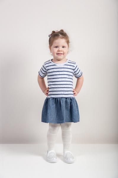 Платье-туника  для девочек Бренд Fox Израиль 12-18 мес. рост 74-80 см