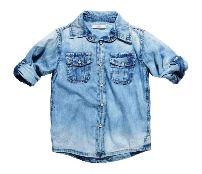 Рубашка джинс для мальчика Бренд Foxkids Израиль джинс для мальчика Бренд Foxkids Израиль 3 года рост 92-98 см