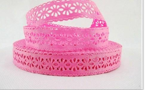 Фото Кружево ,тесьма ,сетка,резинка, Кружево хлопок,сетка -репс Репсовое  кружево  22 мм.    Розового   цвета