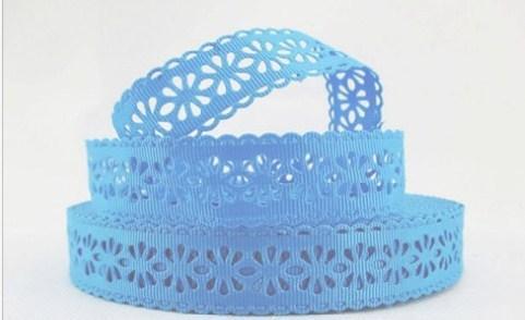 Фото Кружево ,тесьма ,сетка,резинка, Кружево хлопок,сетка -репс Репсовое  кружево  22 мм голубого цвета