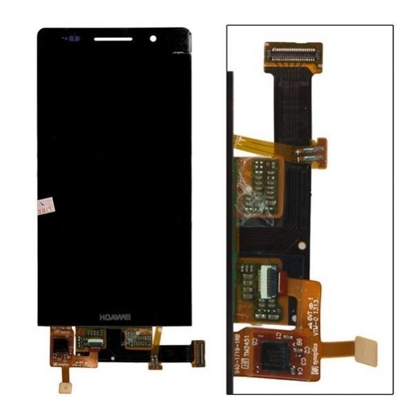 Дисплей (Экран) для Huawei Ascend P6 с тачскрином - черный