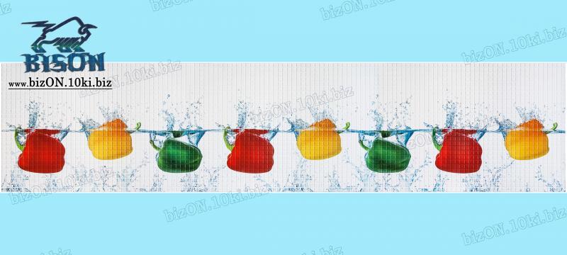 Фото Листовые панели ПВХ Панно «ПАПРИКА» (3 листа в комплекте)   Листовые панели ПВХ