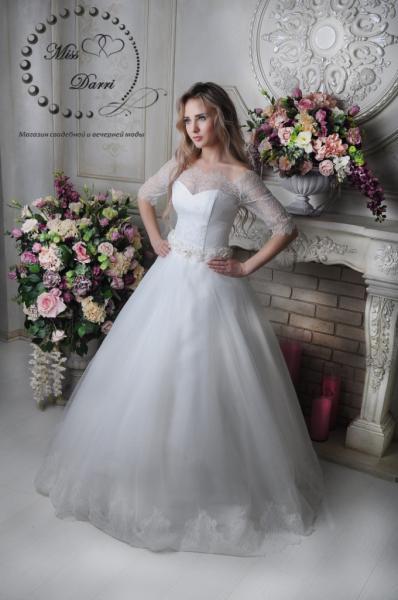 Свадебное платье айвори с рукавом