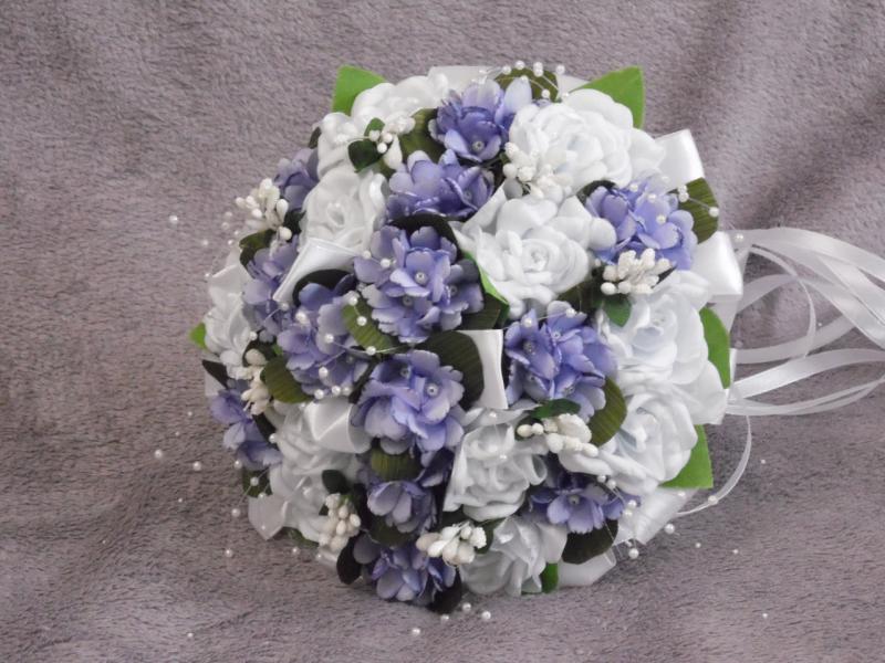 Свадебный букет-дублер белый с сиреневым