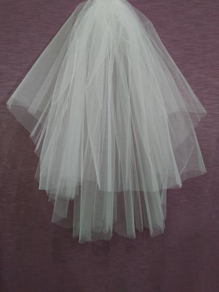 Свадебная фата айвори (бежевая) обрезная