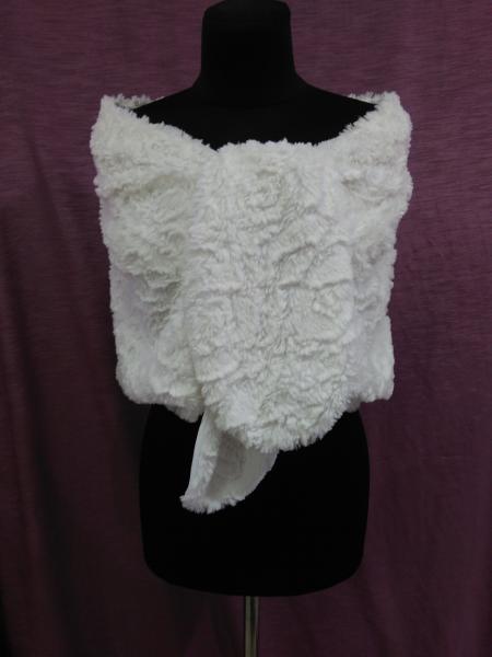 Свадебная накидка/пелерина из искусственного меха белая